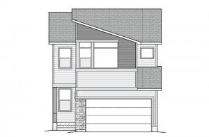 TIAGO-Modern-B Elevation - 2,065 sqft, 3 Bedroom, 2.5 Bathroom - Cardel Homes Denver