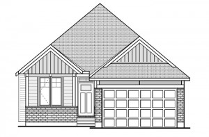 Capella 2 - Canadiana A1 Elevation - 1,611 sqft, 2 Bedroom, 2 Bathroom - Cardel Homes Ottawa