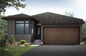 CAPELLA 2 BSPS - Modern A3 Elevation - 1,611 sqft, 2 Bedroom, 2 Bathroom - Cardel Homes Ottawa