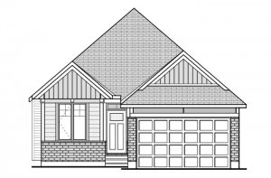 CAPELLA 2 BSPS - Canadiana A1 Elevation - 1,611 sqft, 2 Bedroom, 2 Bathroom - Cardel Homes Ottawa