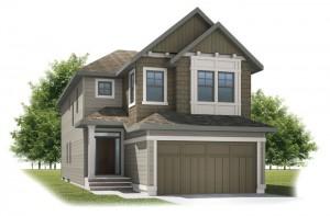 MEDORA2-SP - Shingle S1 Elevation - 2,399 sqft, 4 Bedroom, 2.5 Bathroom - Cardel Homes Calgary