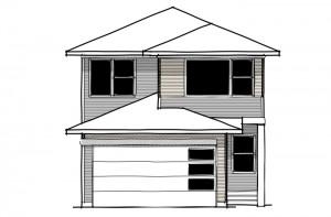 Emerge - Prairie F1 Elevation - 1,994 sqft, 3 Bedroom, 2.5 Bathroom - Cardel Homes Calgary