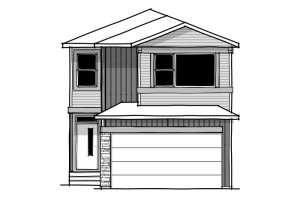 Reva 1 - Urban Craftsman A1 Elevation - 2,303 sqft, 4 Bedroom, 2.5 Bathroom - Cardel Homes Calgary