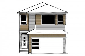 Reva 1 - Urban Prairie A2 Elevation - 2,303 sqft, 4 Bedroom, 2.5 Bathroom - Cardel Homes Calgary