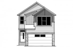 Reva 1 - Urban Farmhouse A3 Elevation - 2,303 sqft, 4 Bedroom, 2.5 Bathroom - Cardel Homes Calgary