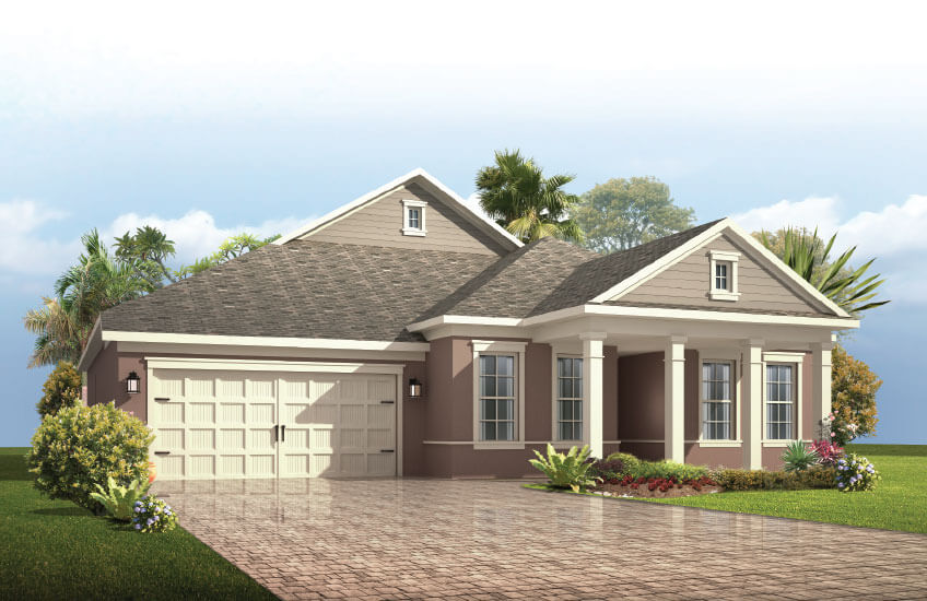 New Tampa Single Family Home Quick Possession Avalon in Country Walk, located at 4954 DIAMONDS PALM LOOP<br />