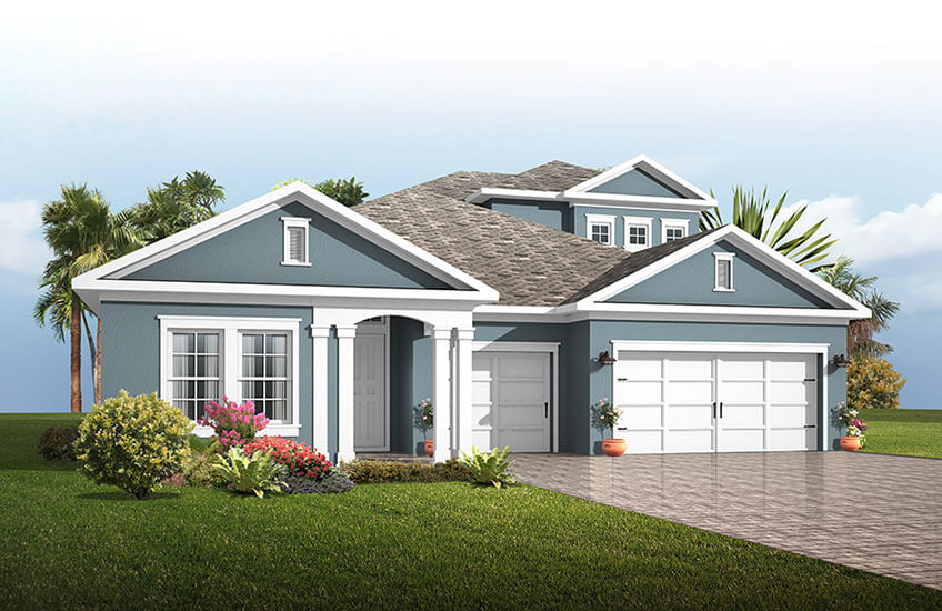 New Tampa Single Family Home Quick Possession ENDEAVOR 3 in FishHawk Ranch, located at 5805 JASPER GLEN DRIVE<br />