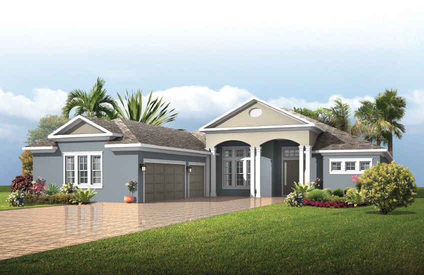 New Tampa Single Family Home Quick Possession Galante in Bexley, located at 16697 COURTYARD LOOP<br />