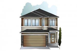 ASTER-Urban-Prairie-F2 Elevation - 2,609 sqft, 4 Bedroom, 2.5 Bathroom - Cardel Homes Calgary