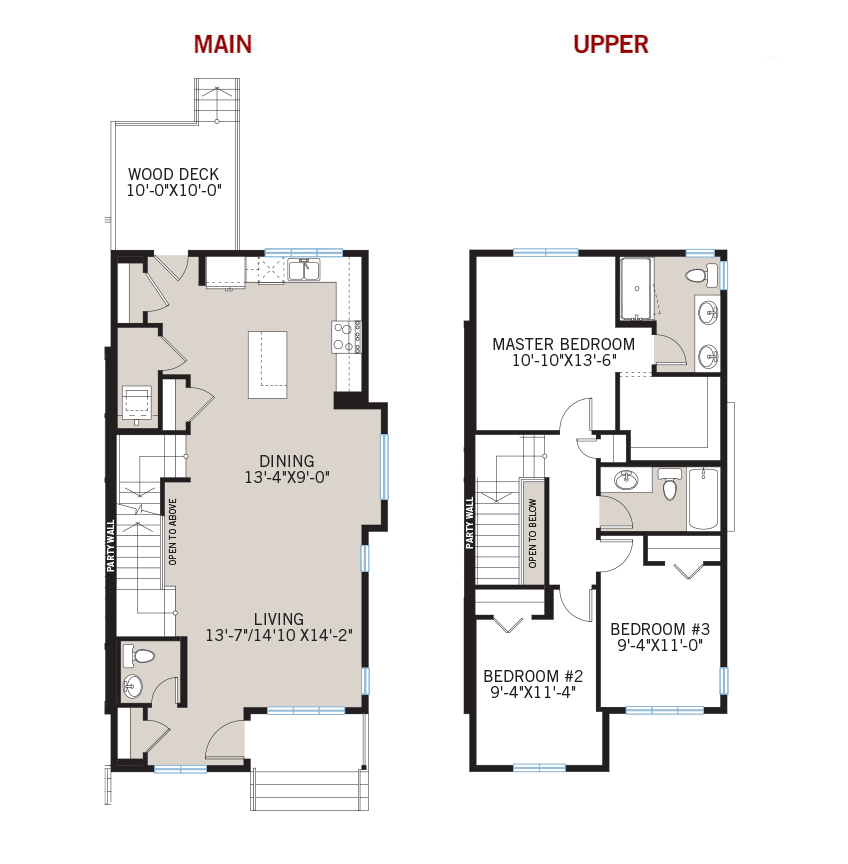 New Calgary Paired Home Quick Possession Indigo 1 Floorplan in Savanna, located at 268 SAVANNA ROAD NE Built By Cardel Homes Calgary