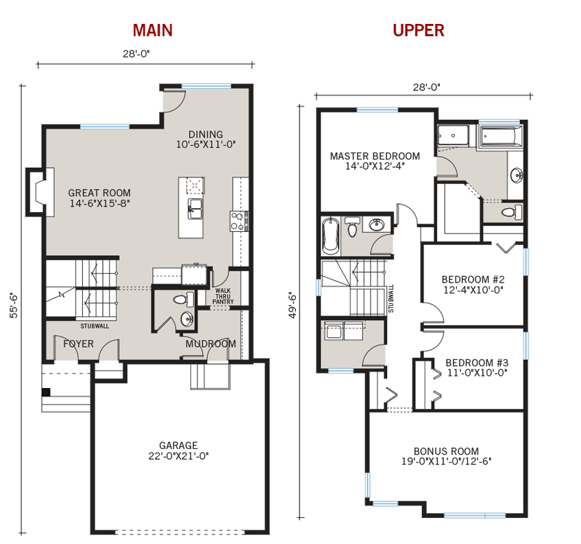 New Calgary Single Family Home Quick Possession Orleans 3 Floorplan in Walden, located at 37 Walden Way SE Built By Cardel Homes Calgary