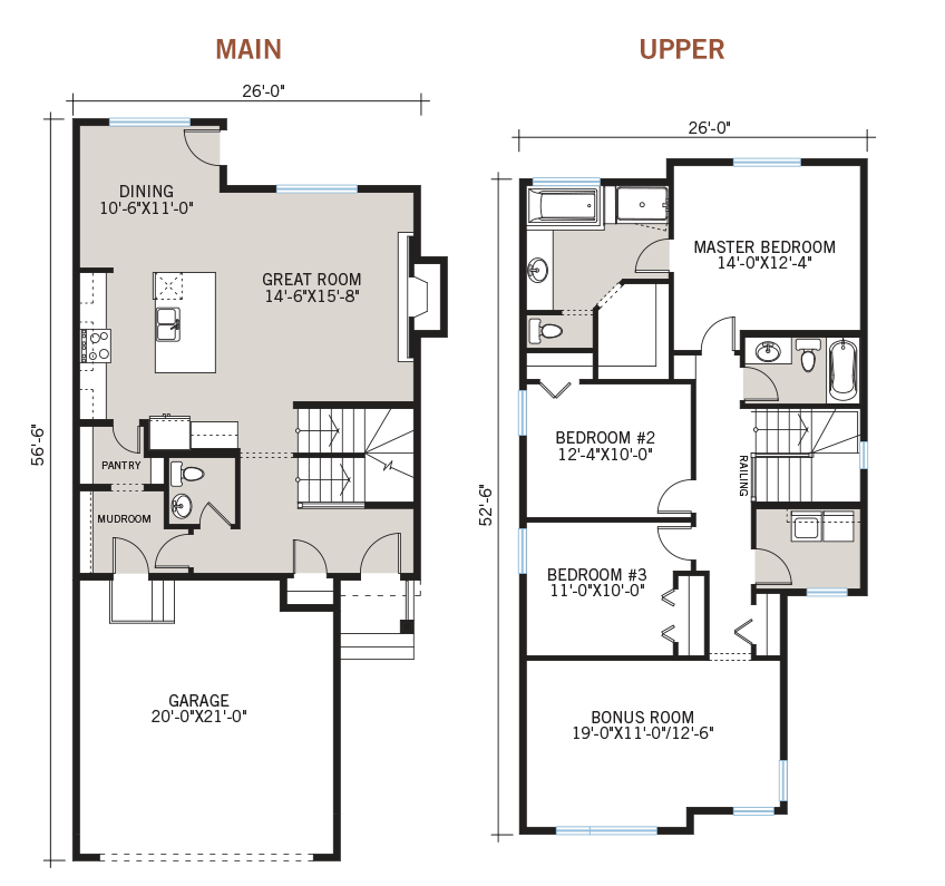 New Calgary Single Family Home Quick Possession Orleans 3 Floorplan in Walden, located at 42 Walden Heath SE Built By Cardel Homes Calgary