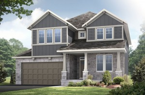 Aberdeen BS - Canadiana A1 Elevation - 2,847 sqft, 4 Bedroom, 2.5 Bathroom - Cardel Homes Ottawa