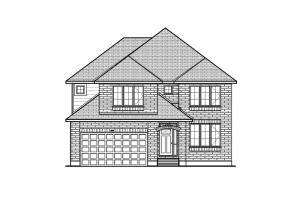 Aberdeen BS - Traditional A4 Elevation - 2,847 sqft, 4 Bedroom, 2.5 Bathroom - Cardel Homes Ottawa
