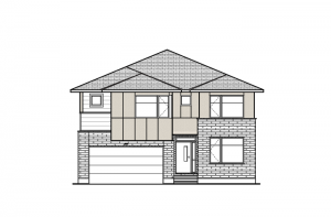 Aberdeen BS - Urban Modern A5 Elevation - 2,847 sqft, 4 Bedroom, 2.5 Bathroom - Cardel Homes Ottawa