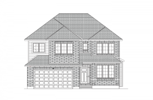 Harrison - Traditional A2 Elevation - 2,470 sqft, 4 - 5 Bedroom, 2.5 Bathroom - Cardel Homes Ottawa
