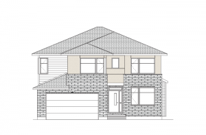 Harrison - Modern Urban A3 Elevation - 2,470 sqft, 4 - 5 Bedroom, 2.5 Bathroom - Cardel Homes Ottawa