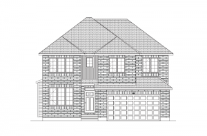 Laurel - Traditional A2 Elevation - 2,202 sqft, 4 Bedroom, 2.5 Bathroom - Cardel Homes Ottawa