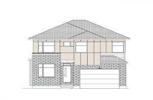 Laurel - Modern Urban A3 Elevation - 2,202 sqft, 4 Bedroom, 2.5 Bathroom - Cardel Homes Ottawa