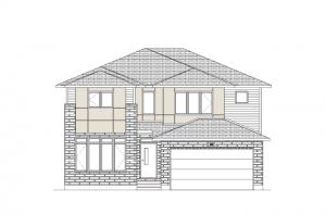 Oakfield - Urban Modern A3 Elevation - 2,487 sqft, 3 Bedroom, 2.5 Bathroom - Cardel Homes Ottawa