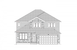 Ridgecrest - Canadiana A1 Elevation - 2,815 sqft, 4 Bedroom, 2.5 Bathroom - Cardel Homes Ottawa