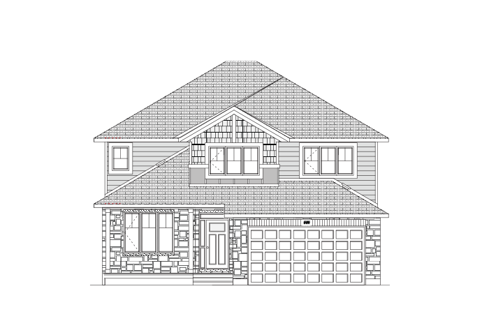 Ridgecrest - Canadiana A1 Elevation - 2,815 sqft, 4 Bedroom, 2.5 Bathroom - Cardel Homes Ottawa