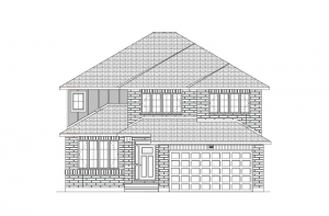 Ridgecrest - Traditional A2 Elevation - 2,815 sqft, 4 Bedroom, 2.5 Bathroom - Cardel Homes Ottawa