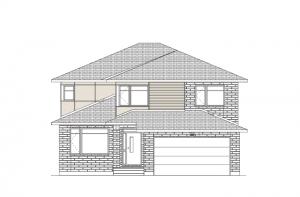 Ridgecrest - Modern Urban A3 Elevation - 2,815 sqft, 4 Bedroom, 2.5 Bathroom - Cardel Homes Ottawa
