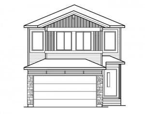 Sereno - Urban Craftsman F1 Elevation - 2,308 sqft, 4 Bedroom, 2.5 Bathroom - Cardel Homes Calgary