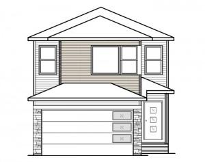 Sereno - Urban Prairie F2 Elevation - 2,308 sqft, 4 Bedroom, 2.5 Bathroom - Cardel Homes Calgary