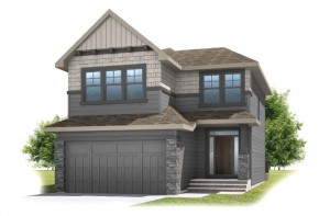 MIRO 2 - Shingle S1 Elevation - 2,109 sqft, 3 Bedroom, 2.5 Bathroom - Cardel Homes Calgary
