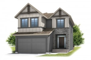 MIRO 2 - Rustic S2 Elevation - 2,109 sqft, 3 Bedroom, 2.5 Bathroom - Cardel Homes Calgary
