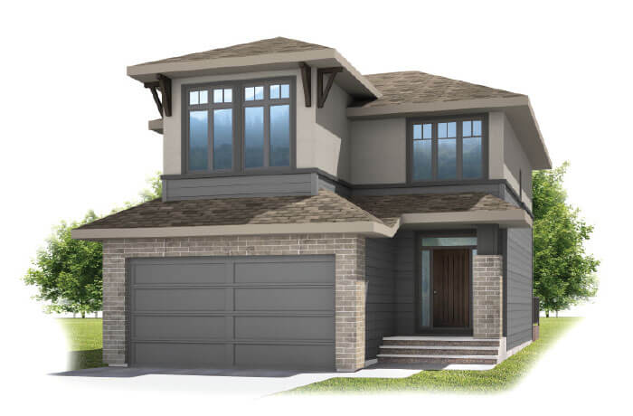 MIRO 2 - Prairie S3 Elevation - 2,109 sqft, 3 Bedroom, 2.5 Bathroom - Cardel Homes Calgary