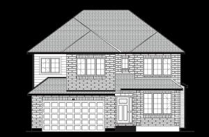 HARRISON-BS-PS - A2 Traditional Elevation - 2,470 sqft, 4 - 5 Bedroom, 2.5 - 3.5 Bathroom - Cardel Homes Ottawa