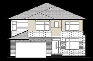 HARRISON-BS-PS - A3 Modern Elevation - 2,470 sqft, 4 - 5 Bedroom, 2.5 - 3.5 Bathroom - Cardel Homes Ottawa