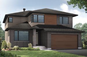 RIDGECREST-BS-PS - A3 Modern Elevation - 2,815 sqft, 4 Bedroom, 2.5 Bathroom - Cardel Homes Ottawa