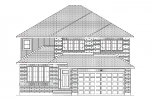 BS_RIDGECREST-A2 Elevation - 2,815 sqft, 4 Bedroom, 2.5 Bathroom - Cardel Homes Ottawa