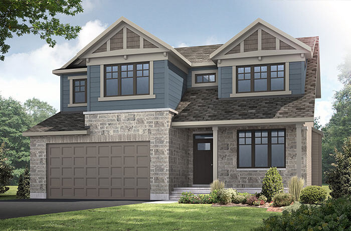 BarringtonA1-elevation Elevation - 2,470 sqft, 4 - 5 Bedroom, 2.5 Bathroom - Cardel Homes Ottawa