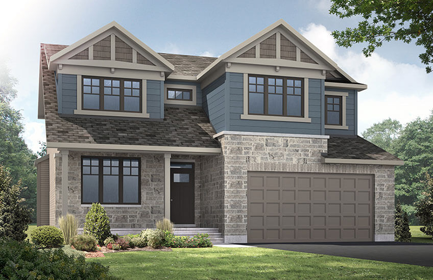 New Ottawa Single Family Home Quick Possession Harrison in Blackstone in Kanata South, located at 301 Oxer Place, Kanata Built By Cardel Homes Ottawa