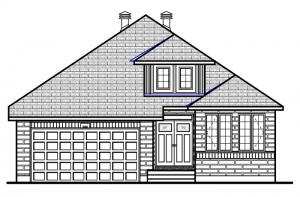 Dexter-A2-traditional-700x460 Elevation - 1,850 sqft, 2 Bedroom, 2 Bathroom - Cardel Homes Ottawa