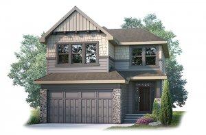 MIRO2S1-1206 Elevation - 2,109 sqft, 3 Bedroom, 2.5 Bathroom - Cardel Homes Calgary