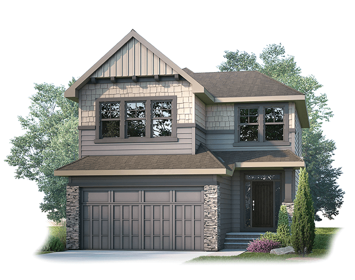 Miro2-S1-SP Elevation - 2,109 sqft, 3 Bedroom, 2.5 Bathroom - Cardel Homes Calgary