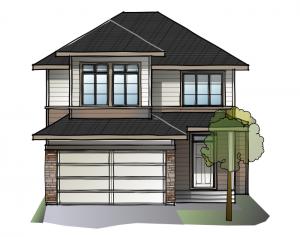 Miro2-S3-SP Elevation - 2,109 sqft, 3 Bedroom, 2.5 Bathroom - Cardel Homes Calgary