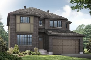 OAKFILED-A2 Elevation - 2,552 sqft, 3 - 4 Bedroom, 2.5 Bathroom - Cardel Homes Ottawa