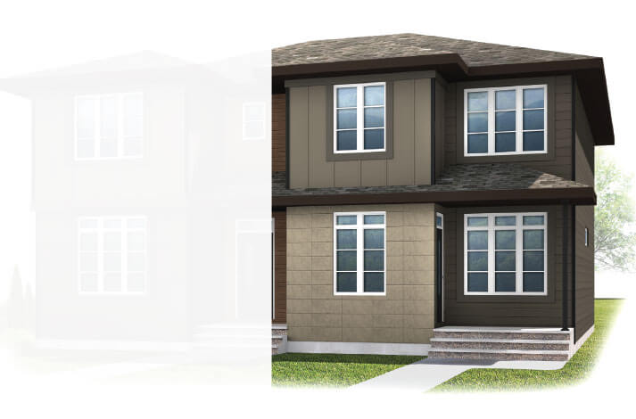 New Calgary Paired Home Quick Possession Indigo 2 in Walden, located at 24 Walgrove Drive SE Built By Cardel Homes Calgary