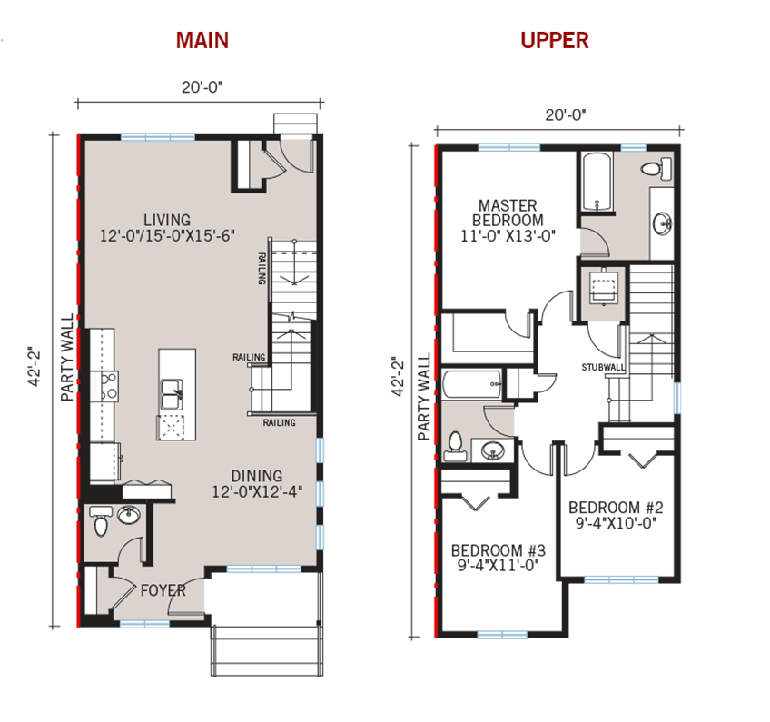 New Calgary Paired Home Quick Possession Indigo 2 Floorplan in Walden, located at 24 Walgrove Drive SE Built By Cardel Homes Calgary
