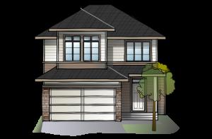 SP-MIRO-2-SP-PRAIRIE-S3 Elevation - 2,109 sqft, 3 Bedroom, 2.5 Bathroom - Cardel Homes Calgary