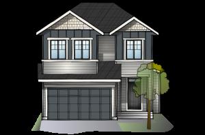 SP-MIRO-2-SP-RUSTIC-S2 Elevation - 2,109 sqft, 3 Bedroom, 2.5 Bathroom - Cardel Homes Calgary