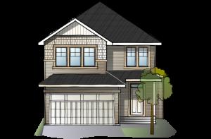SP-MIRO-2-SP-SHINGLE-S1 Elevation - 2,109 sqft, 3 Bedroom, 2.5 Bathroom - Cardel Homes Calgary