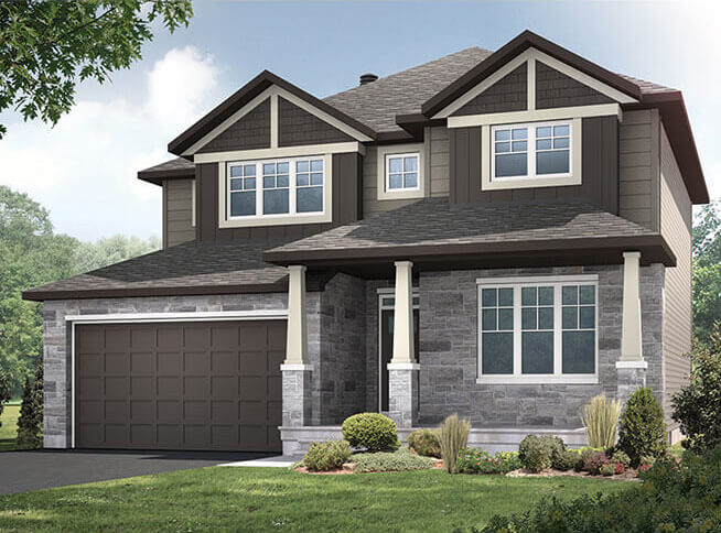 New Calgary  Model Home Oxford in empty, Built By Cardel Homes Calgary